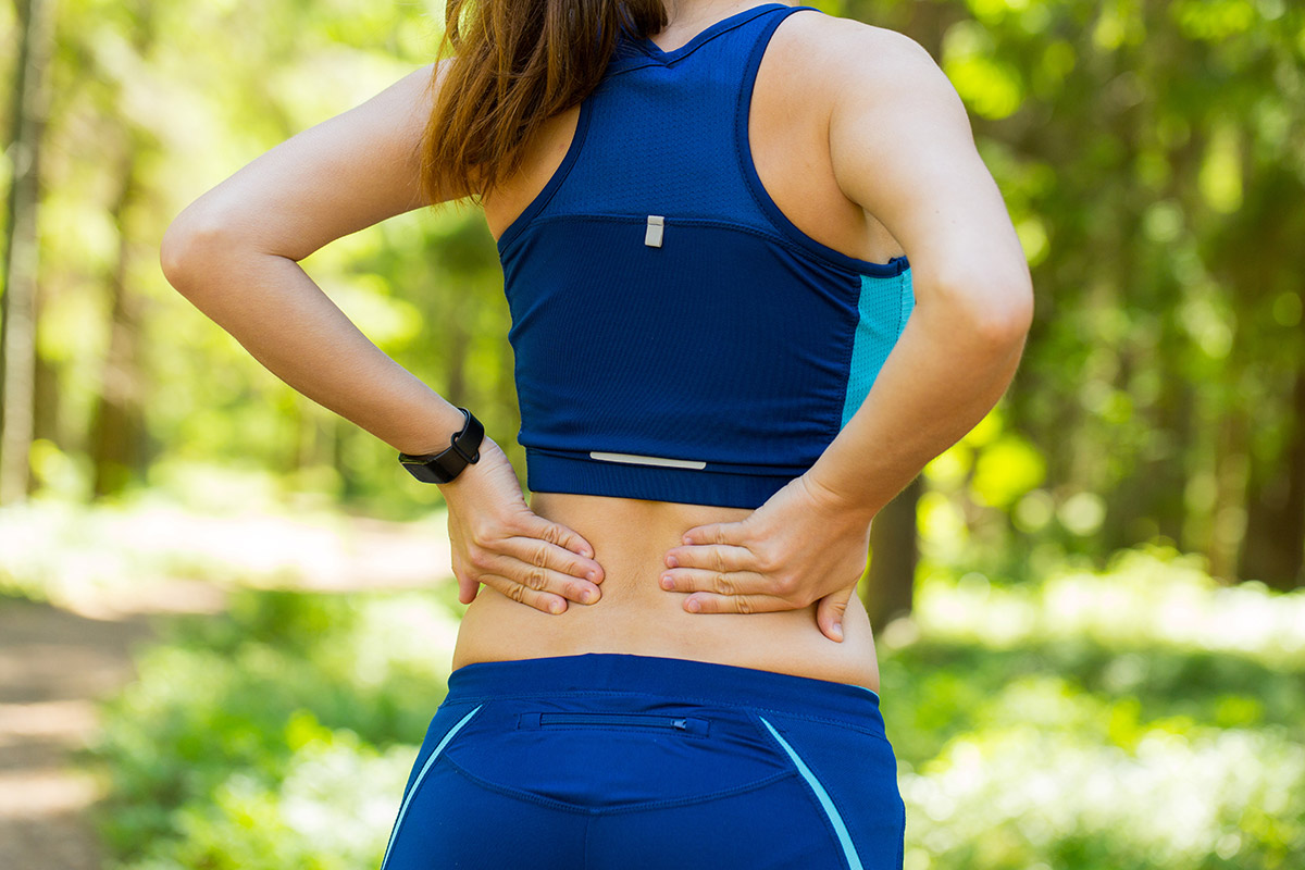 Lower back pain caused by weight lifting